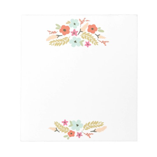Cute and Colourful Flowers Notepad