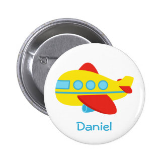 Cute and Colourful Passenger Aeroplane 2 Inch Round Button