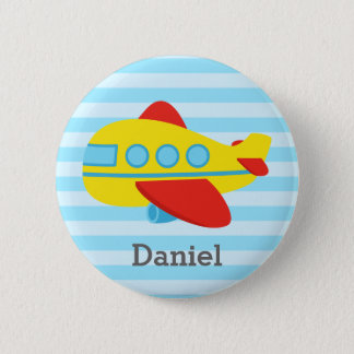 Cute and Colourful Passenger Aeroplane, for Boys 2 Inch Round Button
