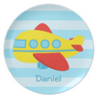Cute and Colourful Passenger Aeroplane Plate