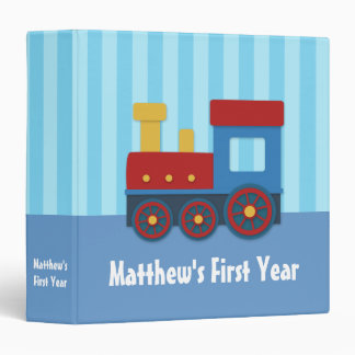 Cute and Colourful Train, Baby Boy Photo Album Vinyl Binders