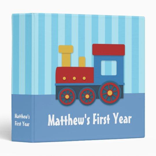 Cute and Colourful Train, Baby Boy Photo Album Vinyl Binders
