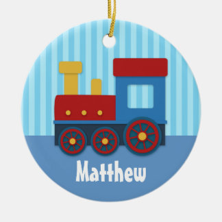 Cute and Colourful Train for Boys Ceramic Ornament