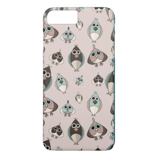 Cute and Crazy owls iPhone 7 Plus Case