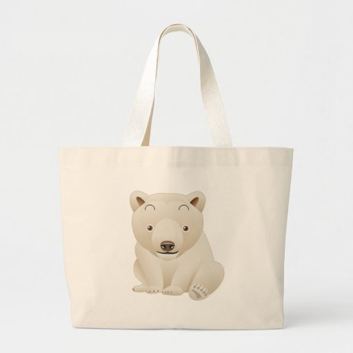 Cute and Cuddly Baby Polar Bear Canvas Bags