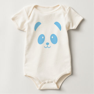 Cute and Cuddly Blue Panda Baby Bodysuit