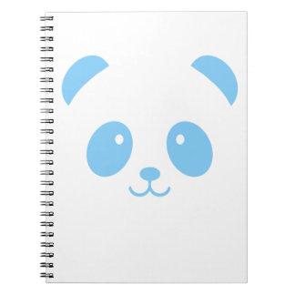 Cute and Cuddly Blue Panda Notebook
