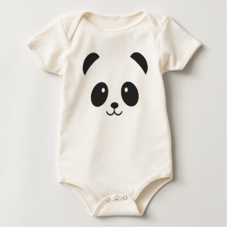 Cute and Cuddly Panda Baby Bodysuit