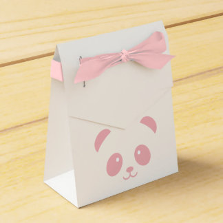 Cute and Cuddly Pink Panda Favor box