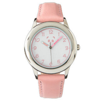 Cute and Cuddly Pink Panda Wristwatch