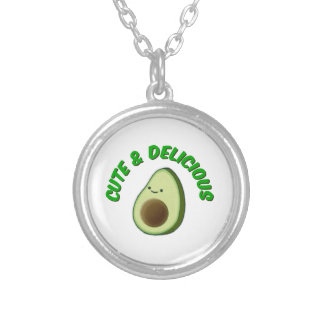 Cute And Delicious Avocado Silver Plated Necklace