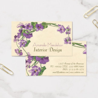 Cute and Elegant floral Business Card
