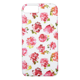 Cute and elegant pink vintage roses pattern iPhone 8/7 case