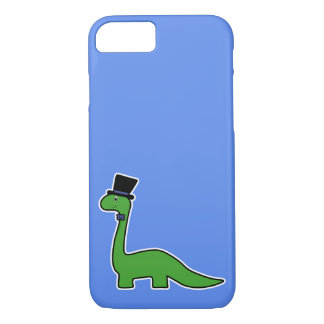 Cute and Fancy Green Dinosaur with Top Hat Case-Mate iPhone Case