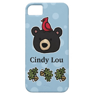 Cute and Friendly Bear Face, Add Your Name iPhone 5 Covers