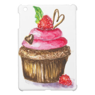 Cute and Fun Chocolate and Raspberry Cupcake iPad Mini Covers