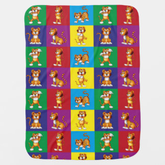Cute And Fun Tiger Pattern Baby Blanket