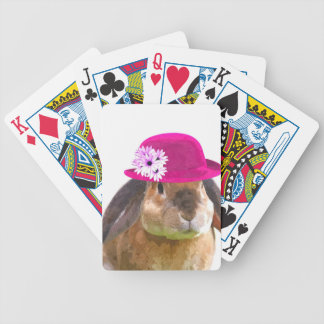 Cute and funny animal rabbit poker deck