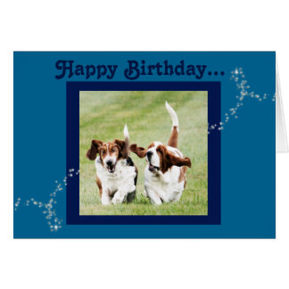 Cute and Funny Basset Hound Birthday Card