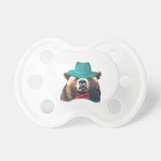Cute and funny bear woodland animal pacifier