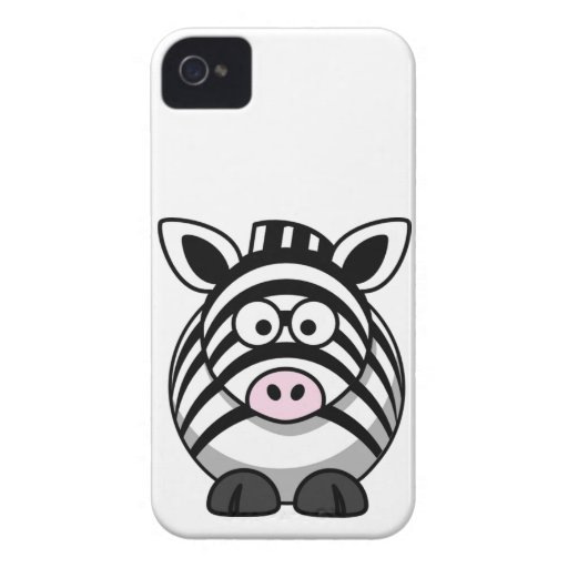 Cute and Funny  Black and White Cartoon Zebra Blackberry Bold Cases