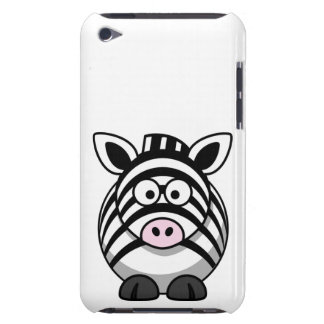 Cute and Funny  Black and White Cartoon Zebra iPod Touch Cases