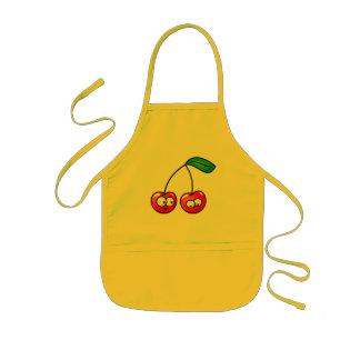 Cute and funny cartoon cherries kids apron