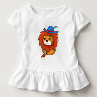Cute and funny cartoon lion for your girls toddler t-shirt