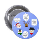 Cute and Funny Christmas - Button