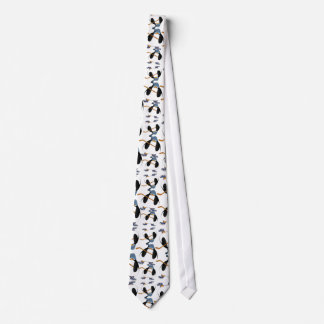 Cute and Funny Hockey Penguin Pattern Tie