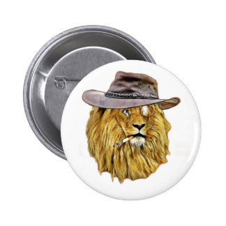 Cute and Funny Lion 2 Inch Round Button