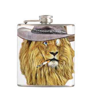 Cute and Funny Lion Hip Flask