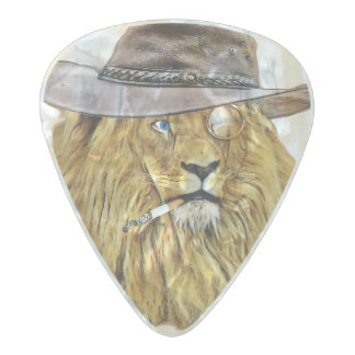 Cute and Funny Lion Pearl Celluloid Guitar Pick