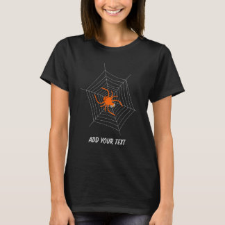 Cute and Funny Spider and Web Halloween T-Shirt