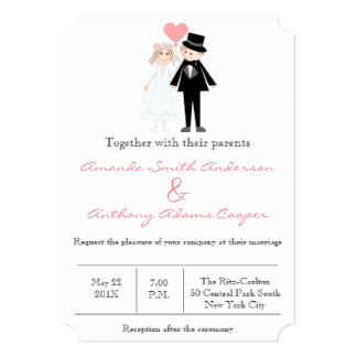 Cute and funny wedding couple card