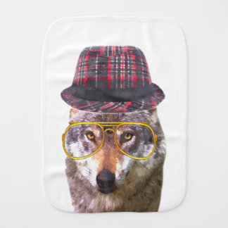 Cute and funny wolf animal burp cloth