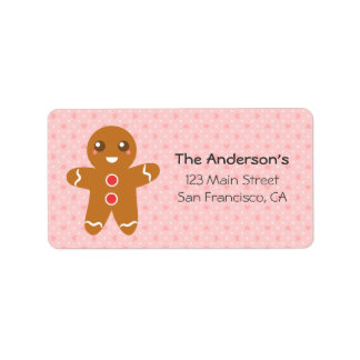 Cute and Happy Gingerbread Man for Christmas