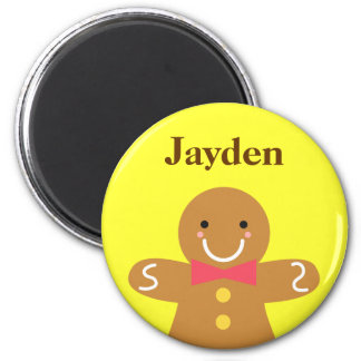 Cute and Happy Gingerbread Man for Christmas Magnet