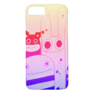 Cute and Happy Street Art Monsters Case-Mate iPhone Case
