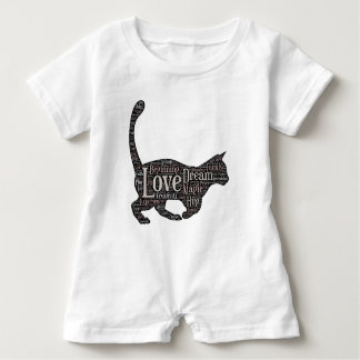 Cute and inspirational Baby Romper with black cat