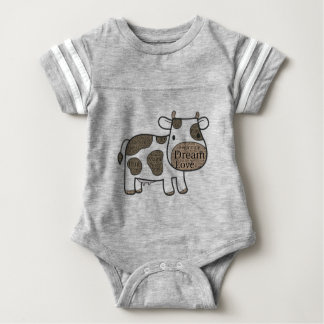 Cute and inspirational cow product for baby baby bodysuit