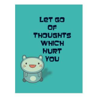 Cute and Inspirational Uplifting Quote Postcard