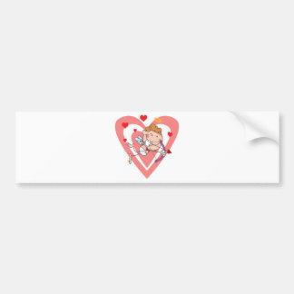 Cute and Loving Cupid Angel Bumper Sticker