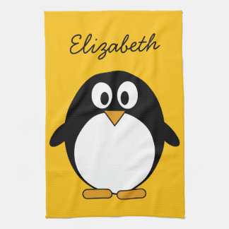 Cute and Modern Cartoon Penguin Towels