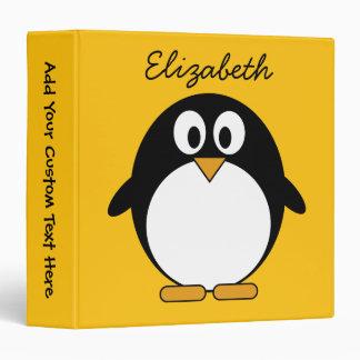 Cute and Modern Cartoon Penguin Vinyl Binders