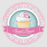 Cute and Playful Cupcake Box Stickers