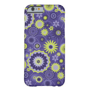 Cute and Playful Floral Dark Purple Barely There iPhone 6 Case