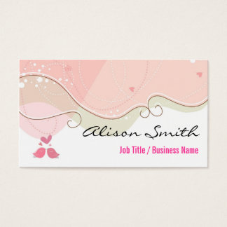 Cute and Romantic Business Card
