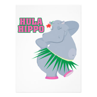 cute and silly luau hula hippo announcements