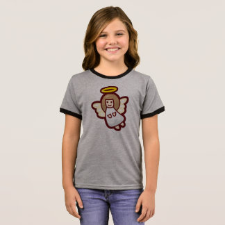 Cute and Simple Christmas Angel | Ringer Shirt